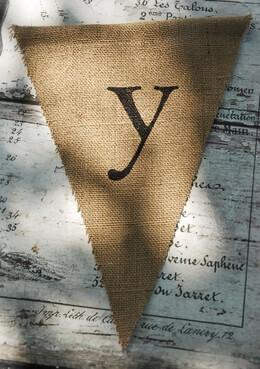 Burlap Pennant Banner Letter Y