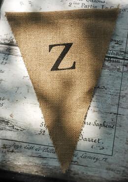 Burlap Pennant Banner Letter Z