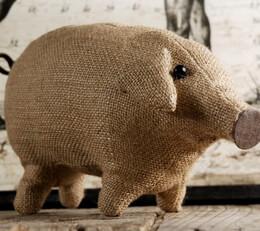 """Burlap Pig 11"""" long"""
