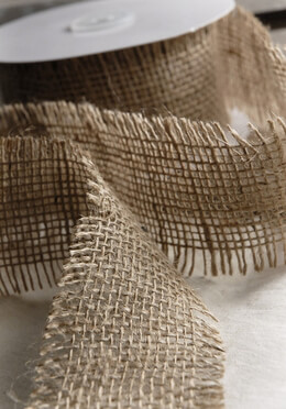 Natural Burlap Ribbon 2.5in x 10yds