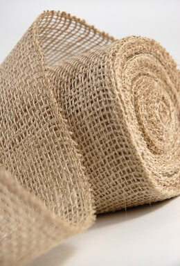 Burlap Ribbon 4in (10 yds)