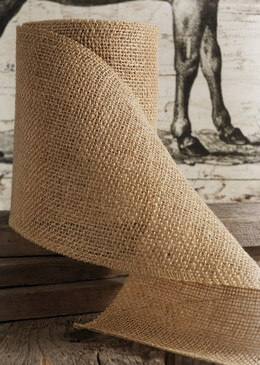 "Burlap Ribbon Natural 6"" wide 10 yards"