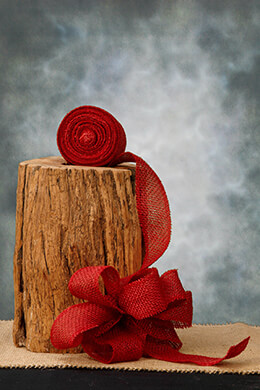 Burlap Ribbon Red 2in 10yd