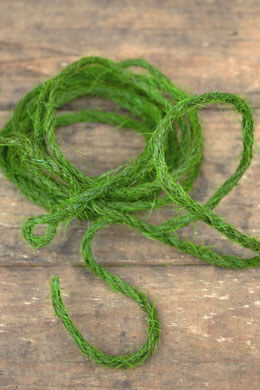 Green Flocked Burlap Wired Roping  9ft