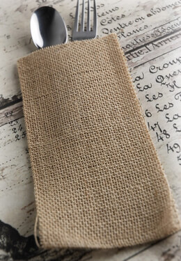 Burlap Silverware Pockets | Pack of 12