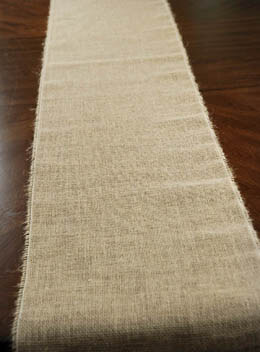 "Burlap Table Runner 12.5"" Wide 120"" long"
