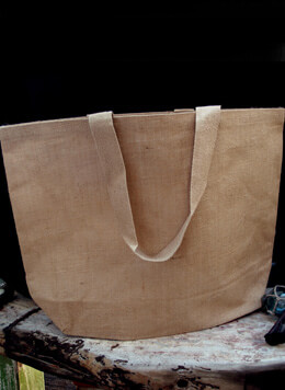 "Large 24"" Burlap Tote Bag"