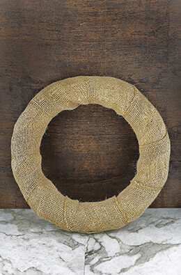 Burlap Wreath 14in