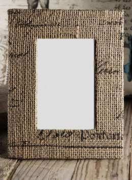 Burlap Picture Frame 4x6