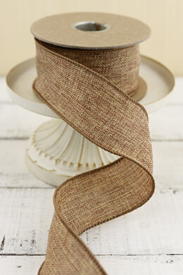 Burlap Ribbon Wired 2in (10yd)