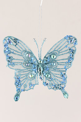 Butterfly Clip Turquoise 5x4.5in (Pack of 12)