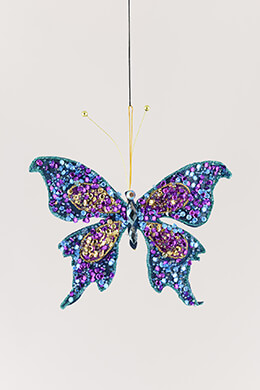 Beaded Butterfly with Clip 7in