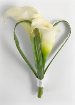 "Double Calla Lily Bud 7"" Boutonniere"