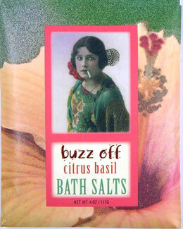 Buzz Off Citrus Basil Bluebird Packaged Bath Salts