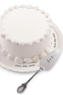 Best Day Ever Wedding Cake Plate Set