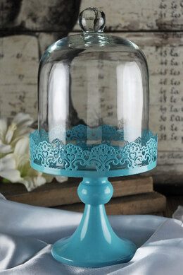 Cake Stand in Blue 11in