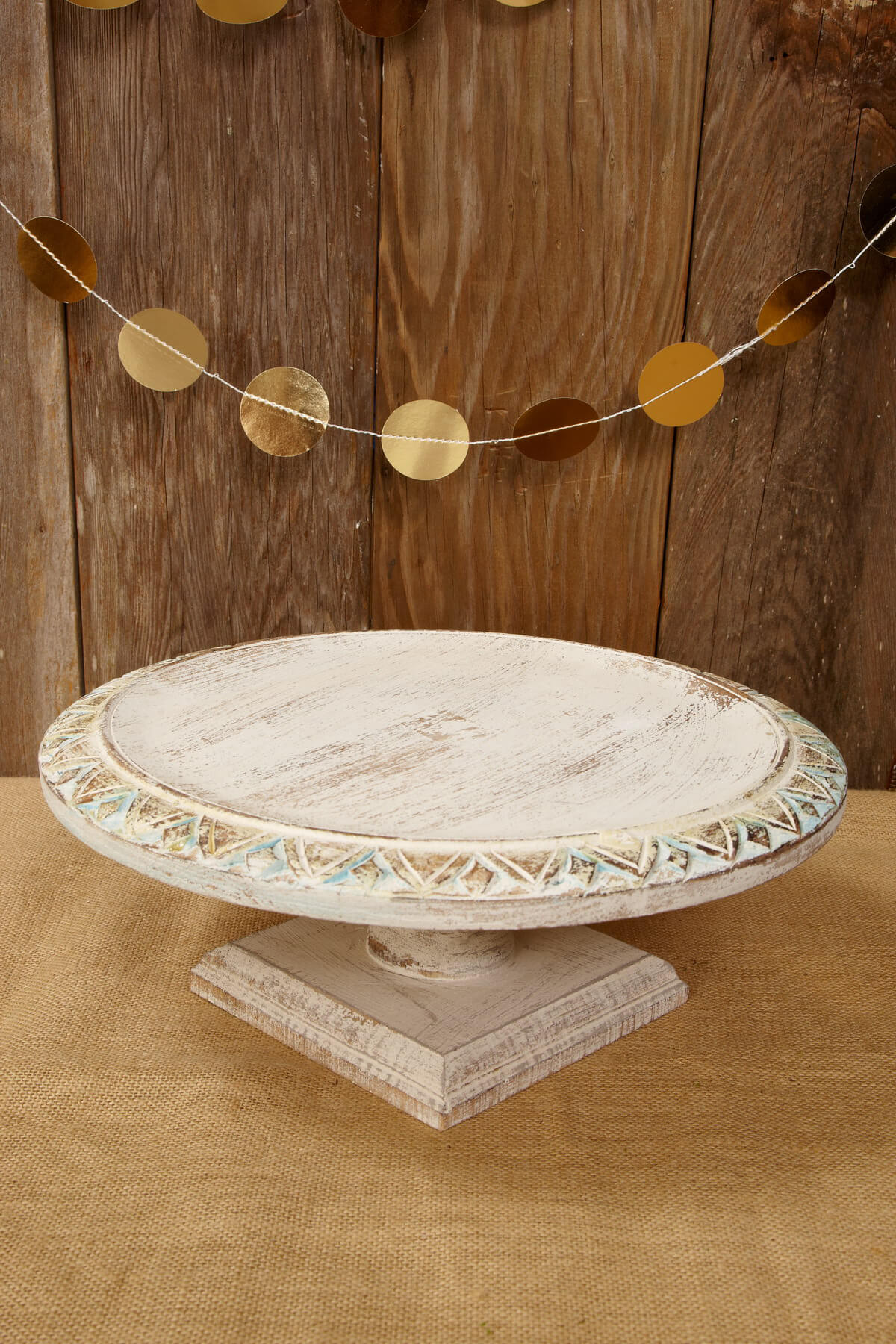 Wood Shabby Chic Cake Stand 15 . Full resolution  portrait, nominally Width 1200 Height 1800 pixels, portrait with #452812.