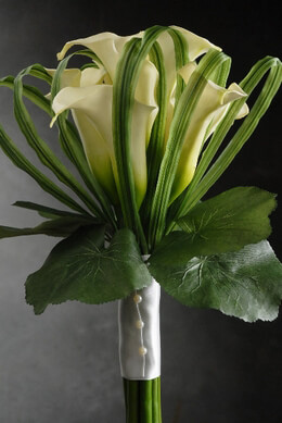 Artificial Calla Lily Bouquet | 9 flowers