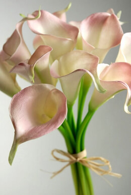 Calla Lily Bouquet Natural Touch Flowers Pink(12 flowers)