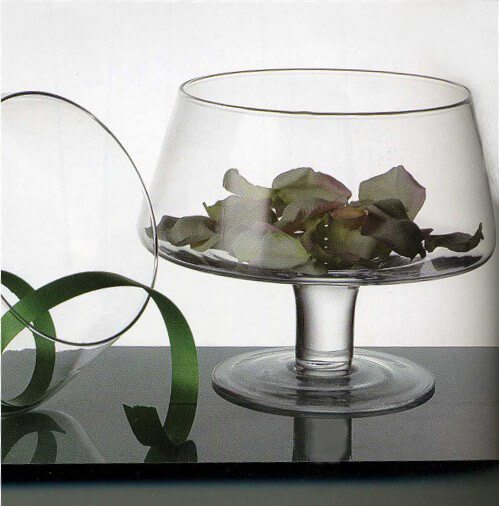 Glass Candle Bowl 8in