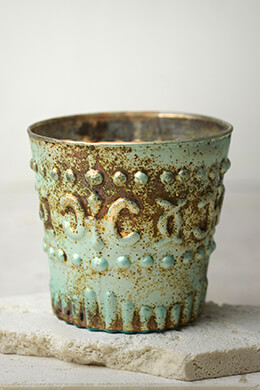 Green Patina Sofia Votive Candle Holders