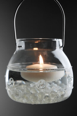 Hanging Clear Glass Candle Holders 4.5 x 4