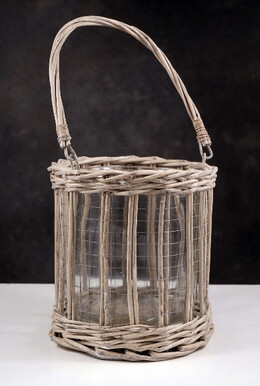 """Candle Holders Wicker and Wire 8"""""""