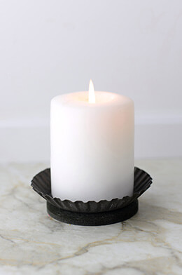 Candle Plate Ruffled 1x4.25in