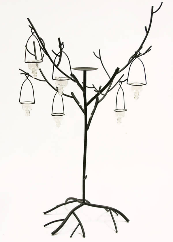 Candle Trees Black 42in | Set of 2