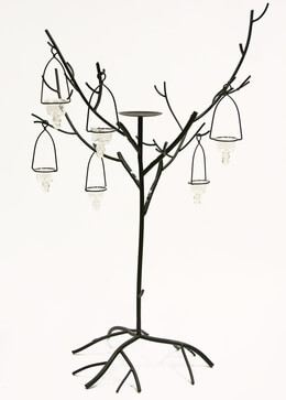Candle Trees Black 42in|Set of 2
