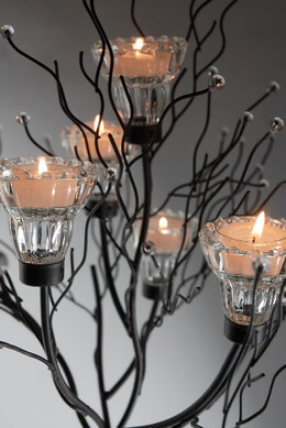 "Candle Trees 43"" Iron Candle Holder (2 candle trees)"