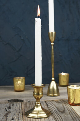 "Gold 3"" Taper Candle Holder"