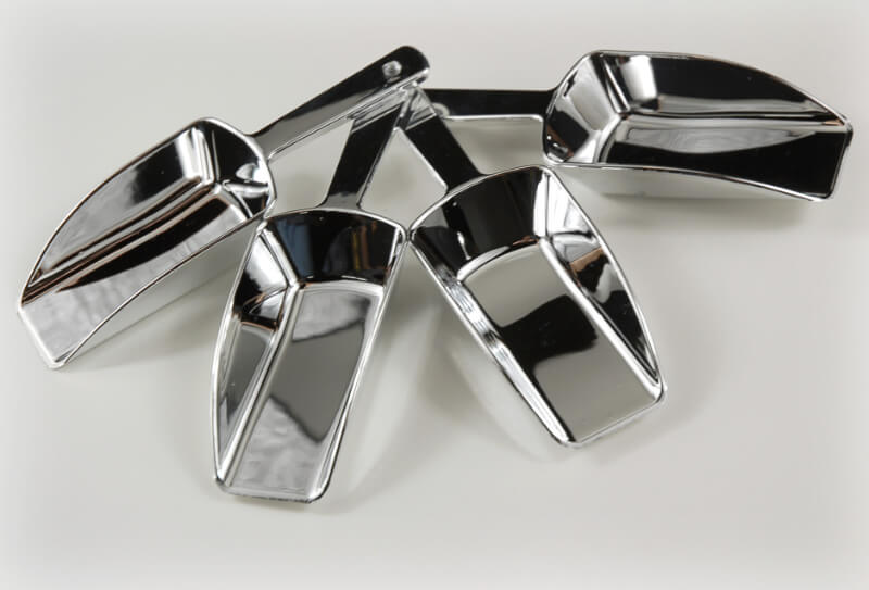 "Silver Candy Scoops 5""  (Pack of 4)"