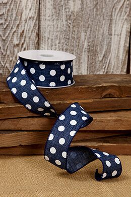 Canvas Ribbon Polka Dots 1.5in