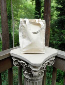 "Canvas Tote Bag  Natural 8"" x 8"" x 11"""