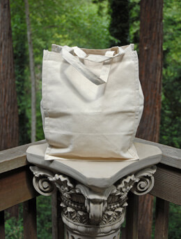 "Canvas Tote Bag  Natural 9"" x 11"" x 14"""