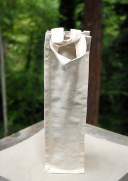 "Canvas Wine Bottle Bag Natural 4"" x 4"" x 14"" (Set of 5)"