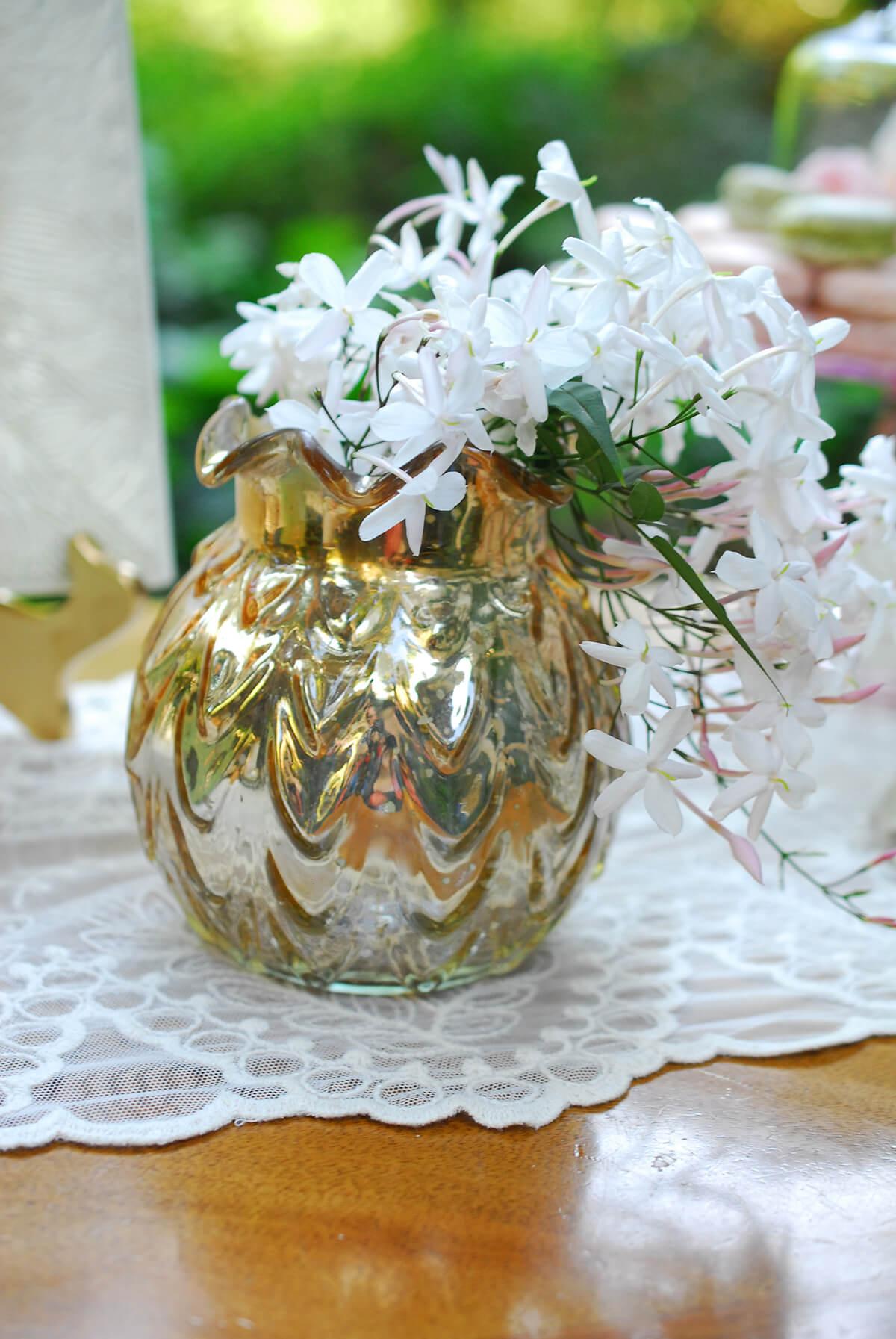 """Gold Carraway Vase 5"""" x 5.25"""""""