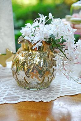 Gold Carraway Vase 5in