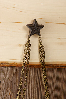 24 Cast Iron Star Knobs Hooks 1.5in