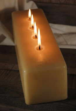 Cathedral Candles 4 Wick Unscented