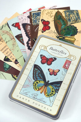 Vintage Postcards Butterflies (18 cards)