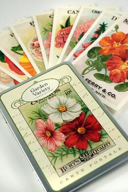 Vintage Postcards Garden (18 cards)