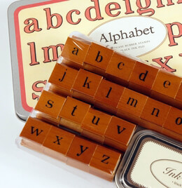 Cavallini Lower Case Alphabet Stamps Set