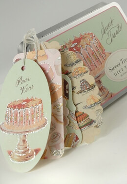 Sweet Treats Glitter Gift Tags Cavallini & Co. (36 tags)