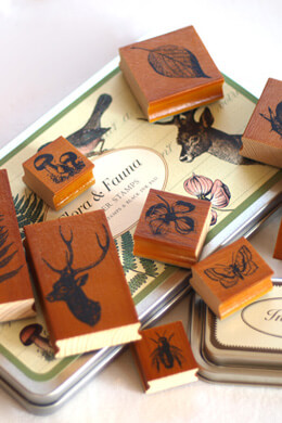 Flora & Fauna Rubber Stamps by Cavallini & Co.
