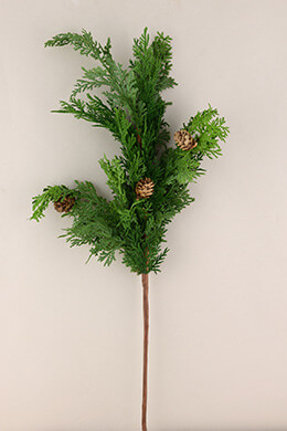 Cedar Branches with Pine Cones 32in