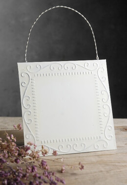 Ceiling Tile with Hanger White