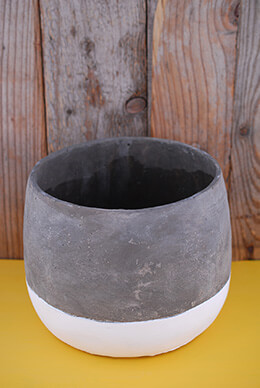 Dip Dyed Pot 8.25x6.25in