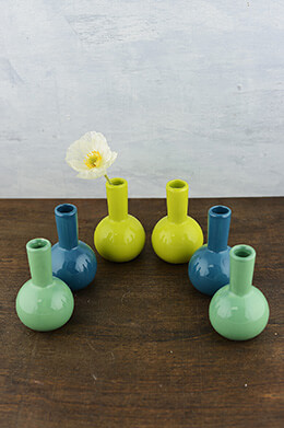 Ceramic Bud Vases 4.25in (Set of 6)